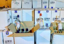 Çöpten toplanan şişelere doldurulmuş 224 şişe kaçak içki ele geçirildi