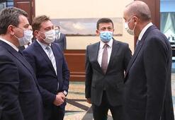 Bayındır ve Bergama belediye başkanları Cumhurbaşkanı Erdoğan ile görüştü