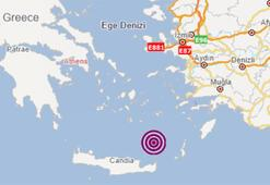 Son dakika... Ege Denizinde deprem