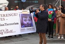Son dakika...Azerbaycan Türklerinden Londrada protesto gösterisi