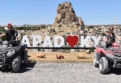Kapadokyada safari yaptılar