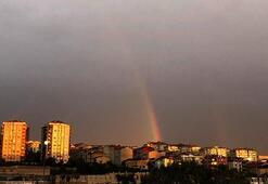 İstanbulda gökkuşağı sürprizi