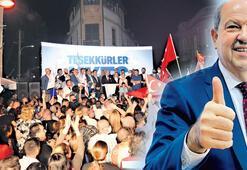 KKTC'de zafer Ersin Tatar'ın