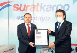 Sürat Kargo'ya TVRM Kovid-19 sertifikası
