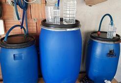 Tekirdağda çiftlikte 1 ton sahte içki ele geçirildi