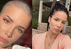 ABDli şarkıcı Halsey saçlarını kazıttı