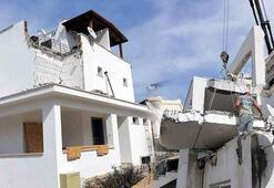 Bodrum'da kaçak yapılar tek tek yıkılıyor