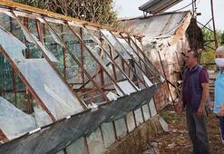 Kumlucayı dolu ve fırtına vurdu Zarar tespiti için çalışmalar sürüyor