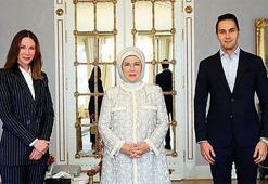 Emine Erdoğan'ı ziyaret ettiler
