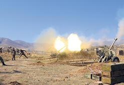 Ermeni mevzilerine yoğun bombardıman