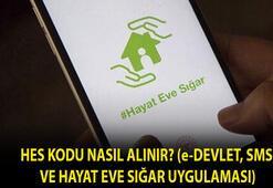 HES kodu nasıl alınır SMS, e-Devlet ve Hayat Eve Sığar uygulaması HES kodu alma ekranı için TIKLA