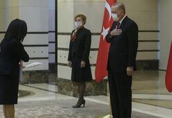 Cumhurbaşkanı Erdoğan Theresa Cutajarı kabul etti