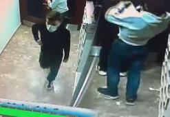 Şifreli kapıyı açan maskeli hırsızlar, ayakkabıları böyle çaldı