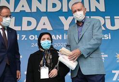 Cumhurbaşkanı Erdoğan ile Safiye teyzenin gülümseten konuşması: Senin damadının adı Bayraktar mıydı