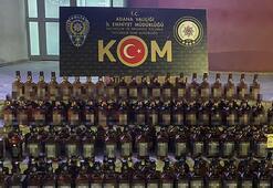 Adanada 220 şişe sahte içki ele geçirildi