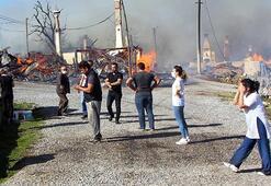 Boluda yangın Diğer evlere de sıçradı