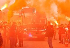 Beşiktaş meşalelerle Denizliye gitti