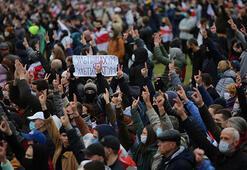 Belarus'ta Cumhurbaşkanlığı seçimlerine yönelik protestolar yapıldı