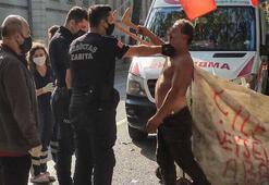 Beşiktaşta şoke eden anlar Ayılınca saldırmaya başladı