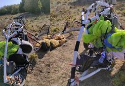 Amanoslarda terör örgütü PKKya ait paramotor ele geçirildi