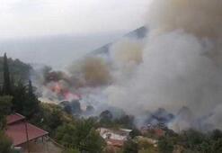 Anamurda orman yangını 50 hane boşaltıldı