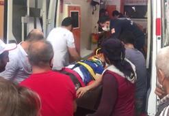 Büyükçekmecede yıkılan binada asansör boşluğuna düşen işçi yaralandı