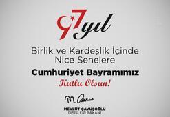 Bakan Çavuşoğlundan 19.23te anlamlı paylaşım