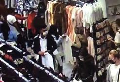 Ataşehirde kalabalık mağazada hırsızlık