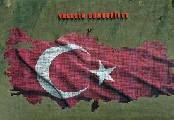 Cumhuriyet sevgisini, 2 bin fotoğraftan oluşan Türkiye haritasıyla sergilediler
