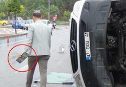 Yer: Antalya Kaza sonrası plaka sökme telaşı