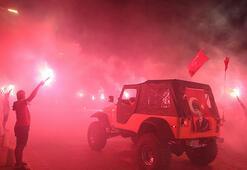 Antalyada Cumhuriyet Bayramı coşkusu Fener alayı düzenlendi