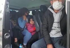Esenyurttaki denetimlerde 4ü çocuk 14 kaçak göçmen yakalandı