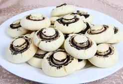 Mantar kurabiye tarifi - yapımı | Mantar kurabiye malzemeleri, nasıl yapılır