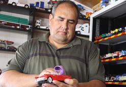 42 yılda 1000in üzerinde oyuncak araba biriktirdi