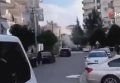 Depremde binanın yıkılma anı kamerada