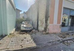 Depremin merkez üssü Yunan adası Sisamdan ilk görüntüler