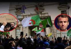 Son dakika...Londrada Macron protestoları