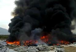 Çürümüş çadırlar, kimliği belirsiz kişilerce ateşe verildi