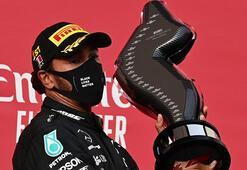 Son dakika   Hamilton yine kazandı, rekorunu geliştirdi