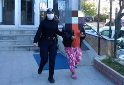 İntihara teşebbüs eden kadın, arandığı belirlenince tutuklandı