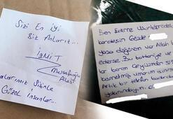 Yardım paketinden çıkan notlar duygulandırdı