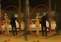 Hatayda bir kadın sokak ortasında erkeğe şiddet uyguladı
