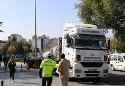 Nevşehirden İzmire yardım TIRı gönderildi