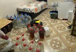 Adana'da sahte içki üretilen eve operasyon