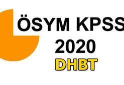 KPSS DHBT başvuru tarihi 2020 ne zaman KPSS DHBT ne zaman uygulanacak