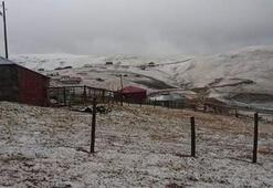 Karadenize sezonun ilk karı yağdı
