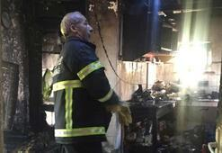 Malkaradaki yangın faciasından görüntüler