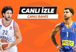 Anadolu Efes - Maccabi Tel Aviv maçı Tek Maç ve Canlı Bahis seçenekleriyle Misli.comda