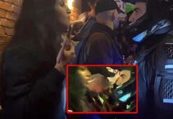 ABDde gerilim zirvede Kadın protestocu polisin yüzüne tükürdü