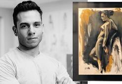 Genç ressamdan İzmir'e yardım
